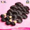熱い販売の人間の毛髪のRemyのブラジルの毛Weft自然なカラーバージンの毛