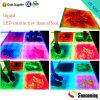 Salões de baile portáteis líquidos do efeito interativo surpreendente interativo do diodo emissor de luz