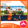 Kindergarten-Teildienst-im Freienspielplatz-gesetztes Plättchen