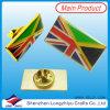 Перекрестный Pin отворотом флага Великобритании и Германия
