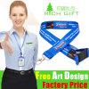 Doppi poliestere di prezzi di fabbrica/sagola su ordinazione all'ingrosso di sublimazione per il personale