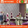 PVC profonde pour les murs de papier peint à motifs floraux en relief