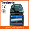 Encoladora de la fibra óptica del arco de la máquina del empalme de la alineación de la base de Techwin