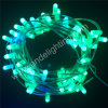 Luzes substituíveis de cobre cheias da corda do grampo do Natal do diodo emissor de luz do fio 12V