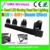 Mini stade lumière 4 chefs d'éclairage de la tête mobile DJ