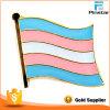 Transexual Transgender 깃발 접어젖힌 옷깃 Pin 무료 샘플 금속 접어젖힌 옷깃 Pin