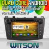 Witson S160 Car DVD GPS Player para New Mazda 3 (2010-2012) com Rk3188 o quadrilátero Core HD 1024X600 Screen 16GB Flash 1080P WiFi 3G Front DVR DVB-T Mirro (W2-M034)