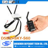 500MW 32CH Fpv Video Transmitter Sky-N500 con D58-2 Diversity Receiver para RC Airplane Helicopter