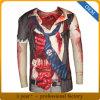 Custom Tous les hommes Long Sleeve Plus d'impression en sublimation T Shirt