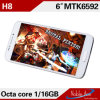 H8 Mtk6592-1.7g megaciclo 1GB+ 8GB 2 SIM Cards 3000mAh Octa Core Cell Phone