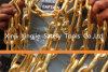 부피는 금에 의하여 도금된 평면 케이블 사슬, 금 사슬, 금의 100개 FT 스풀 금관 악기 사슬을 도금했다