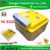 Incubateur automatique de poulet de taux élevé approuvé de hachure de la CE pour 96 oeufs