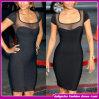 2014 последних Sexy голливудских звезд платье черный порванный жгут платья