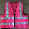 LED de tecido rosa estilo quente colete reflector colete de visibilidade