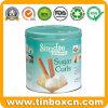 Круглая коробка олова хранения металла жестяной коробки для скручиваемостей сахара