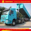 정면 덤프 50 톤 트럭 트레일러 3 차축 또는 반 팁 주는 사람 트레일러