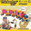 Trem do brinquedo dos blocos educacionais coloridos da alta qualidade DIY grande
