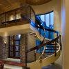 現代家の屋内炭素鋼のスプレーの鋼鉄によって曲げられるステアケース