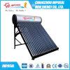 Calefator de água solar de vidro da tubulação de calor da câmara de ar de vácuo da pressão