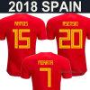 2018 het Overhemd van Jersey van het Voetbal van het Huis van Spanje van de Kop van de Wereld voor de Volwassen Jonge geitjes van Vrouwen