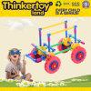 Carros de madeira do brinquedo dos blocos educacionais coloridos da alta qualidade DIY