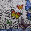 Mosaico de vidrio Rhombus pared azul Azulejo