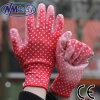 Перчатка работы PU Nmsafety красной напечатанная картиной для женщин