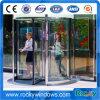 Porta giratória automática do vidro laminado do sensor para o edifício do hotel