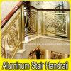 Balustrades en laiton en aluminium d'escalier d'escalier de luxe de villa