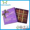 Rectángulo de regalo del papel de la alta calidad de la insignia del oro para el caramelo de chocolate