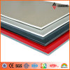 Silver/Red RoHS Vo Grade Fireproof PVDF Aluminum Composite Panel (AF-370)