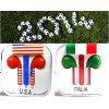 iPhone 5를 위한 다채로운 국기 이어폰 또는 헤드폰 헤드폰