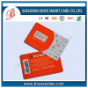 SGS одобренный штрих-код ПВХ визитная карточка