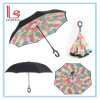C Shape Handle Double-Layer Reverse Folding Sun Umbrella