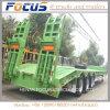 반 60tons 굴착기 유압 확장 가능한 Lowbed 트럭 트레일러