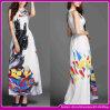 2015 Fashion дешевые элегантный западной 70% шелка и 30% полиэстер материала-плечевой Maxi платье (C-213)