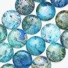 [إكسغ-ك01] نمو مجوهرات عملة زرقاء مجنون عقيق خرز