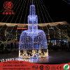 Luz comercial de la decoración del lugar del día de fiesta al aire libre grande 3D para la Navidad