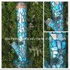 Blau-Glaswasser-Rohre des Ozean-14inch mit Shell-Dekoration