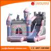 Principessa gonfiabile Bouncy Combo Castle (T3-117) di colore rosa della trasparenza della tela incatramata del PVC