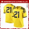 Goedkope Uniformen van de Voetbal van de manier de Naar maat gemaakte Gele Amerikaanse (eltfji-68)