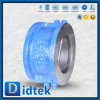 Задерживающий клапан вафли плиты Didtek API 6D 16inch Wcb двойной