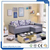 Bâti de sofa élevé de cuir arrière de meubles modernes de salle de séjour pour l'hôtel