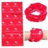 China-Fabrik-Erzeugnis passte weißer Firmenzeichen Fullover Druck-roten PolyesterBandana an