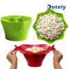 Silicona plegable reventar el tazón de palomitas de maíz palomitas de microondas creativo hacer Bowl