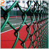 防御フェンスまたは金網の塀かダイヤモンドの塀