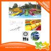 ジャンボ虹子供および大人のためのエキサイティングなプラスチック水スライド