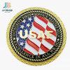 A annoncé les pièces de monnaie en alliage de zinc de médaillon de souvenir d'enjeu de militaires de logo de l'U.S. Air Force d'émail