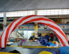 Logosの白およびRed Inflatable Air Arch