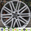 Réplica de alumínio personalizada da roda da liga de Bentley do carro